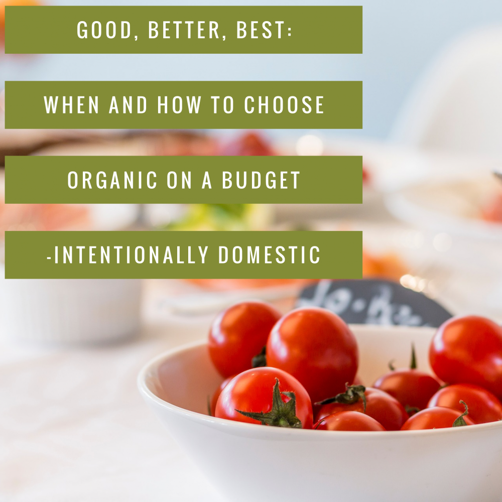 Good, Better, Best: When and How to Choose Organic on a Budget