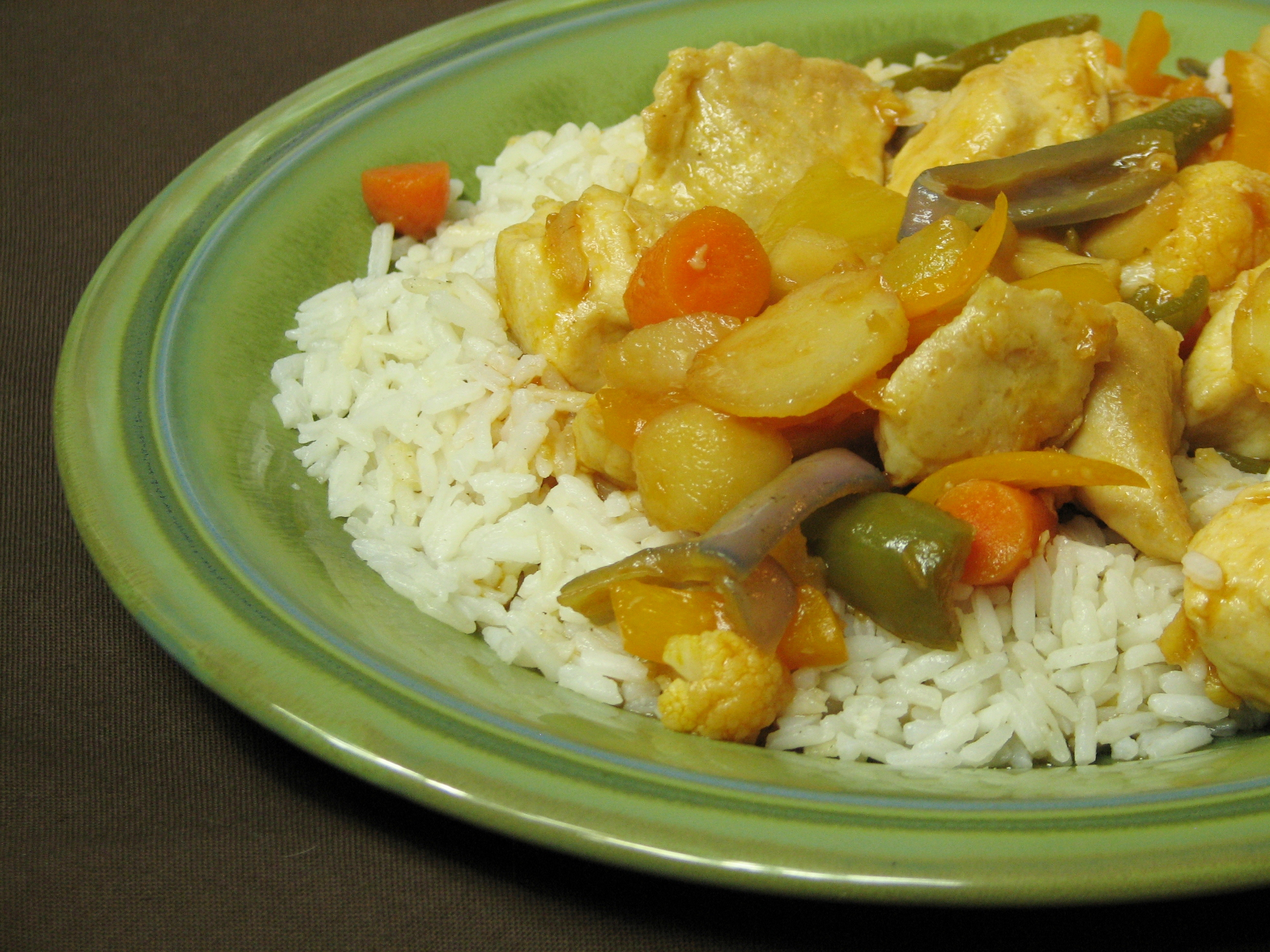Sweet and Sour Chicken and Vegetables