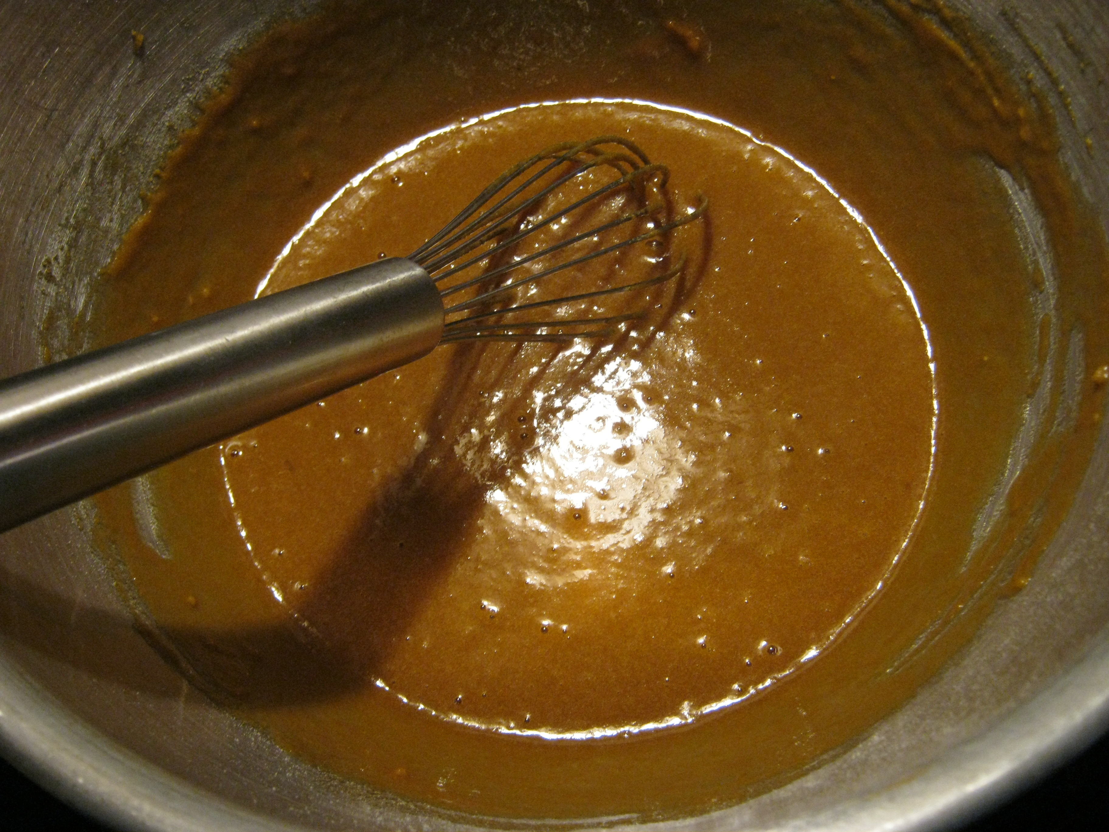 whisk the dry into the wet ingredients