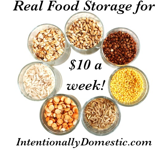 Real Food Storage on $10 a Week For a Real Food Diet